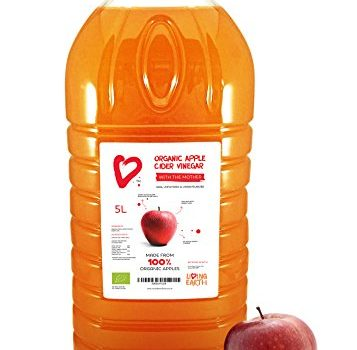 "Living Earth - Vinagre de manzana orgánico ""con la madre"" 5L. Sin pasteurizar ni filtrar."
