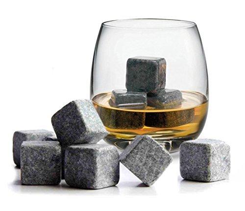 9 Piezas Calidad Granito - Whisky Piedras - Hielo Seco - Cubo Rocas - Regalo - TRIXES