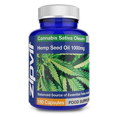 Aceite de cáñamo | 360 cápsulas | Con alto contenido en Omega 3 6 y 9