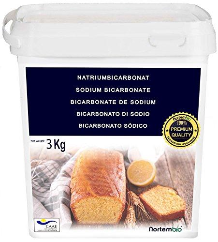 Bicarbonato de Sodio 3kg, Calidad Premium. Producto CE.