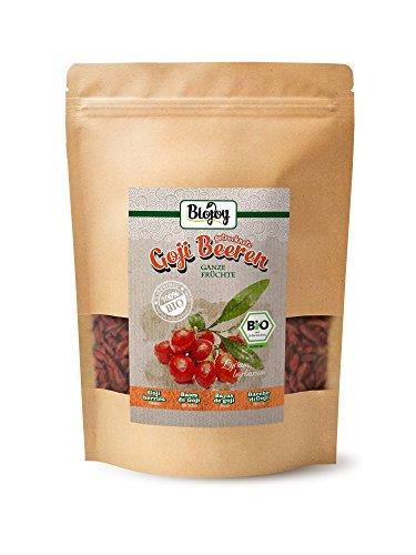 Biojoy bayas de Goji desecadas BÍO | sin azufre y azúcar | súper alimento sin conservantes y con muchas sustancias saludables | remedio terapéutico tradicional M.T.C. | Lycium barbarum (0,5 kg)