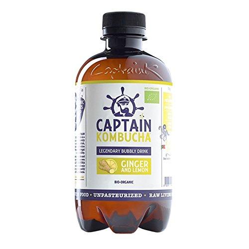Captain Kombucha, Té verde (Jengibre y limón) - 12 de 400 ml. (Total 4800 ml.)