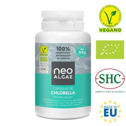 Chlorella en Cápsulas | 100% Chlorella Orgánica | Pared Celular Rota: Mejor Asimilación y Mayor Poder Antioxidante | 350 mg por Cápsula | 120 Cápsulas por Envase | Neoalgae