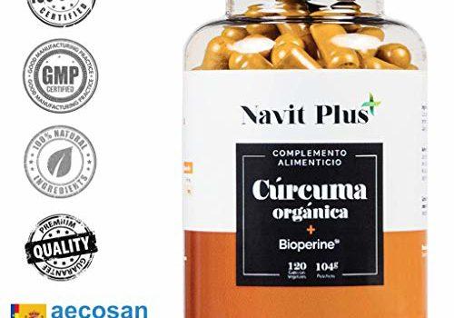 Cúrcuma Orgánica con BioPerine. Suplemento Potente antiinflamatorio y antioxidante natural.