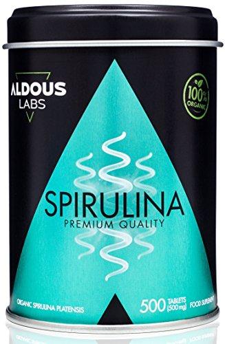 Espirulina Ecológica Premium para 165 días   500 comprimidos de 500mg con 99% BIO Spirulina   Vegano + Saciante + Proteína + DETOX   Libre de Plástico   Certificación Ecológica Oficial Ecocert y CAAE