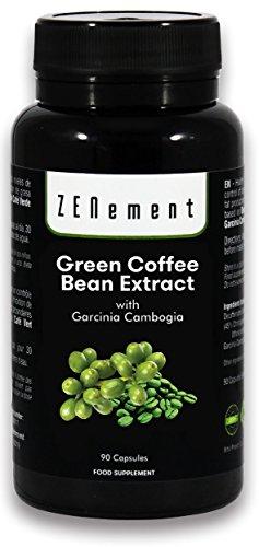 Extracto de Café Verde Natural con Garcinia Cambogia pura, 90 cápsulas, para perder peso, quemar grasas y disminuir el apetito, No GMO, 100% Natural