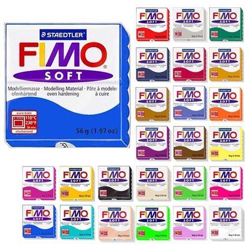 Fimo Soft Starter Pack 12 x 56g Multicolour Blocks by Steadtler