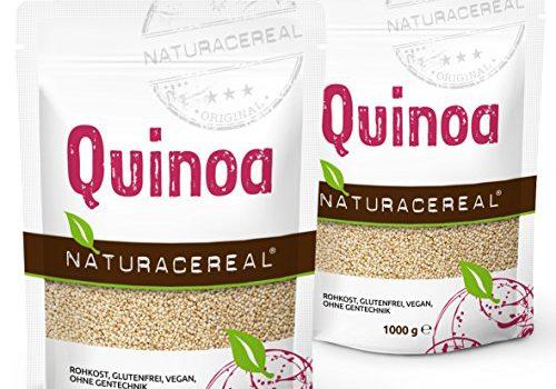 NATURACEREAL - Quinoa Blanca Premium (2 x 1kg) - | Mayor contenido de minerales que el arroz.