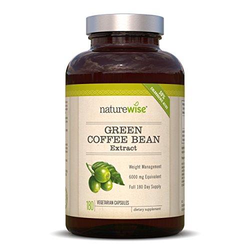 naturewise verde extracto de granos de café 800quemador de grasa con GCA, 1600mg por ración de diario, la más alta disponible en el mercado...