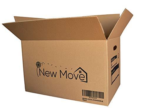 NEW MOVE – PACK DE 12U- 500X300X300MM- CAJAS PARA MUDANZAS, TRANSPORTE, ALMACENAJE, ORGANIZACIÓN.MUY RESISTENTES Y RECICLABLES, CON ASAS PARA MEJOR TRANSPORTE Y DIBUJO PARA SU ORGANIZACION