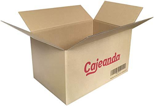 Pack de 20 Cajas de Cartón - Tamaño 430 x 300 x 250 mm - Canal Simple de Alta Calidad Reforzado y Resistentes - Fabricadas en España - Mudanza y Almacenaje - Cajeando