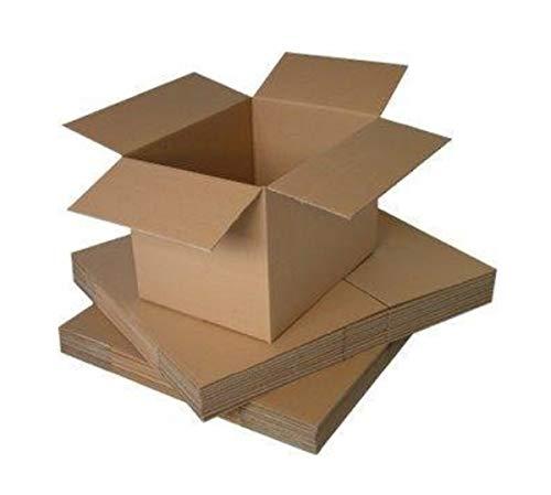 """Packitsafe - Cajas de cartón para mudanza, tamaño pequeño, Mediano y Grande, Varios tamaños Disponibles, 9"""" x 9"""" x 9"""" (229x229x229mm)"""
