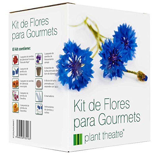 Plant Theatre Kit de Flores para Gourmets - 6 variedades comestibles de flores para crecer