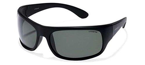Polaroid 7886 - Gafas de sol rectangulares unisex, color negro (black), talla única