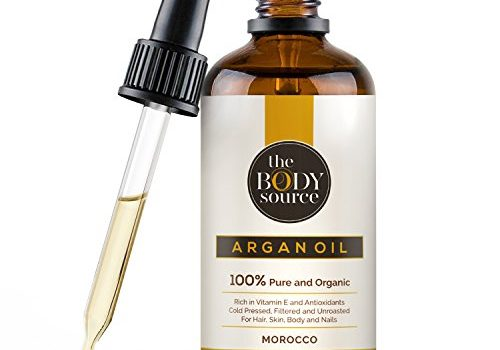 Aceite de argán orgánico, prensado en frío, filtrado y sin quemar rico en vitamina E y antioxidantes