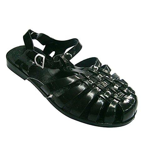 Sandalias de goma cangrejeras de río Hurán en negro talla 36