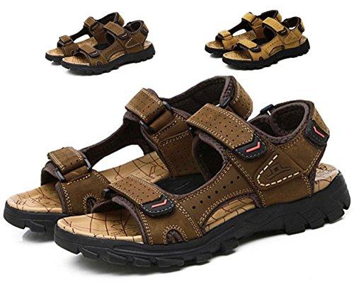 Sandalias de los hombres de verano de piel de pescador zapatos de playa Zapatos ocasionales 2017 Kraft nueva sandalia de deslizamiento de deslizamiento de espesor de senderismo Sandalias