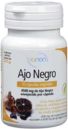Sanon, Cápsulas Vegetales con Ajo Negro, 30 Cápsulas, 770 mg