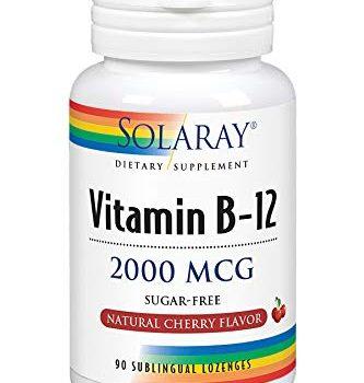 Solaray Vitamina B-12 2000mcg: Energía saludable y apoyo de los glóbulos rojos