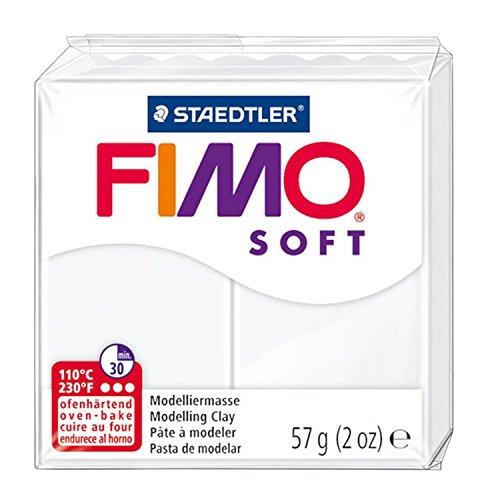 Staedtler 8020-0. Pasta para modelar blanca Fimo soft. Caja con 1 pastilla.