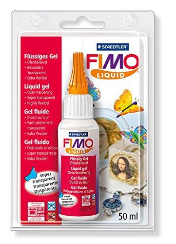 Staedtler- FIMO Liquid 8050 Gel Decorativo, Color Transparente (8050-00 BK)