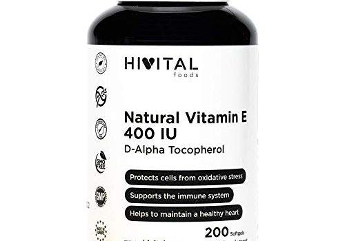 Vitamina E Natural 400 UI: Antioxidante protege las células del estrés oxidativo y el sistema inmune