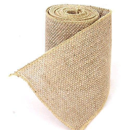80bfd77d9 Zedtom 1 rollo de cinta de arpillera de yute para decoración de bodas y  fiestas Artesanía